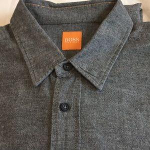 Hugo Boss Orange Button Down Shirt  L